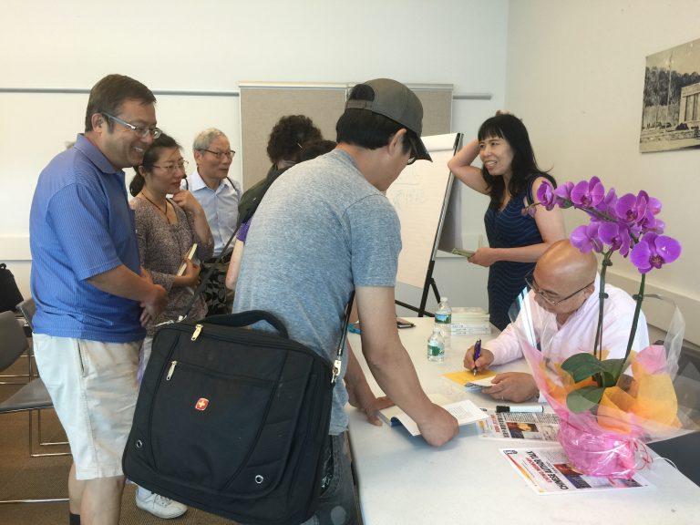 Flushing Author Frank Chen Signing Books