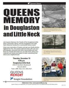 Queens Memory in Douglaston and Little Neck, December 10, 2015