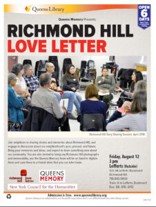 Richmond Hill Love Letter, August 12, 2016
