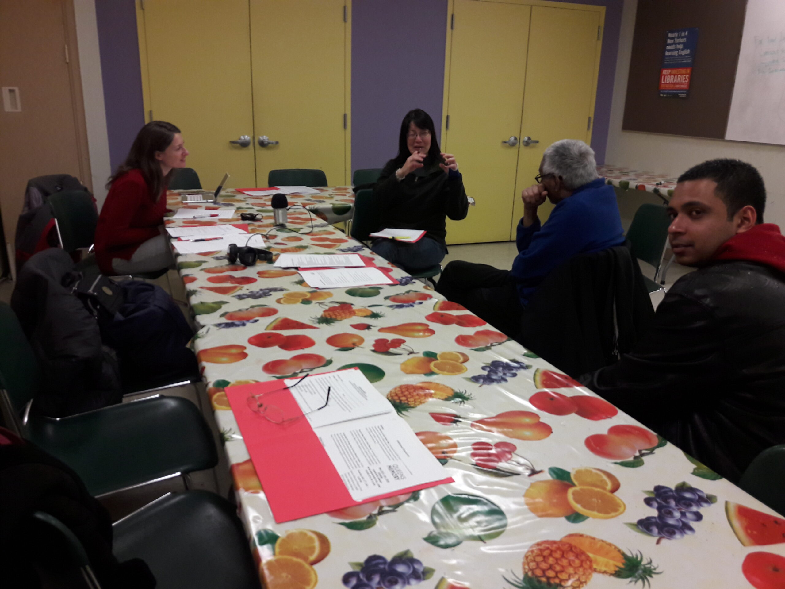 Oral History Workshop at the Sunnyside Library