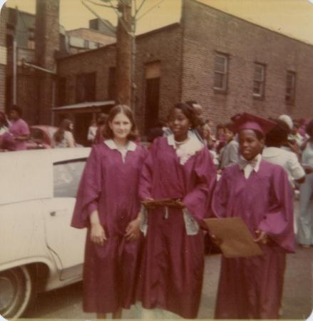 Teri Graham's junior high school graduation