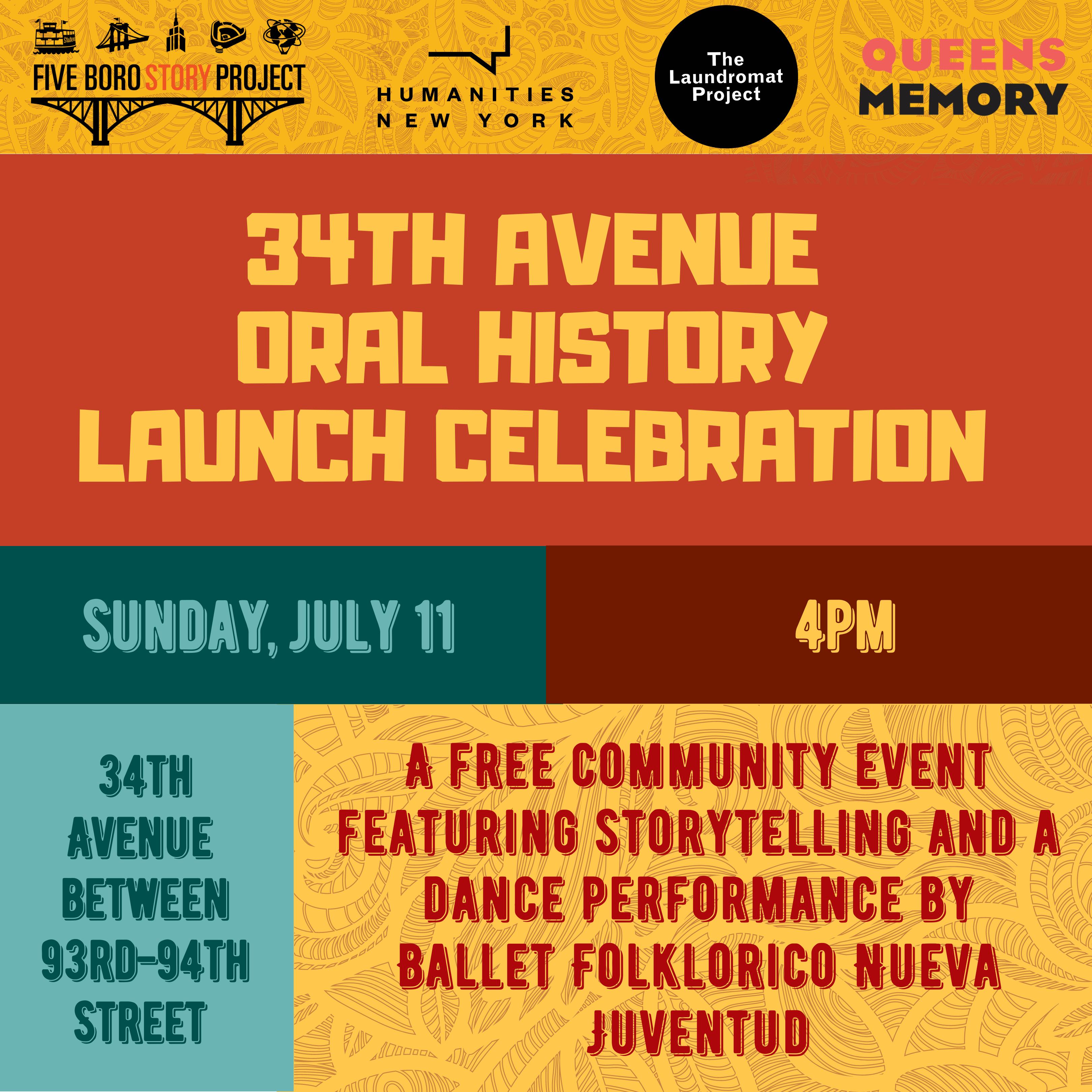 34th avenue oral history launch celebration