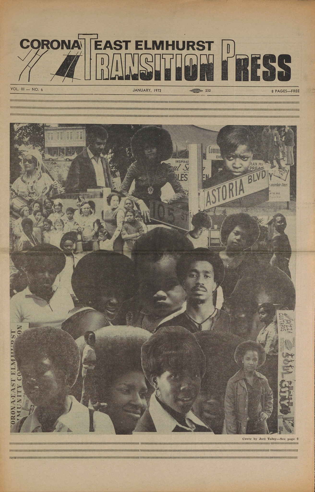 Transition Press. January 1972, Vol. 3, Issue 6